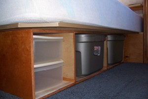 We Remodeled Our RV Bed To Improve Interior Storage