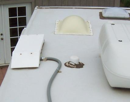 DIY RV refrigerator roof vent cap replacement