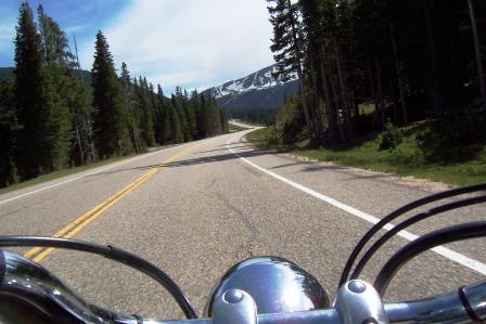Motorcycle in the Rockies