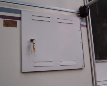 RV litterbox access door