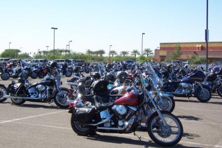 Poker Run sea of Bikes