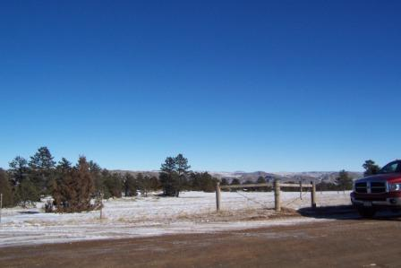 Looking south across the ranch from the north gate
