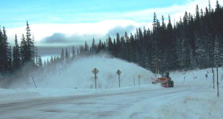 Snowblower on Cameron Pass