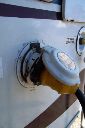 Broken 30A receptacle