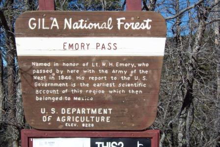 Emory Pass Sign
