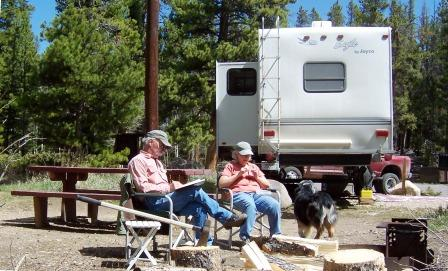 A hard day in Willow Campground on the Medicine Bow