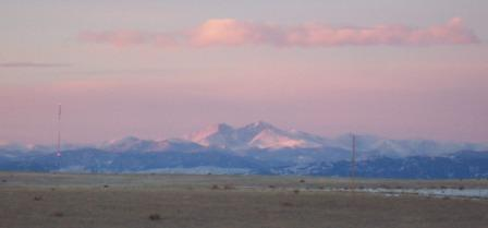 Sunrise along the Rockies