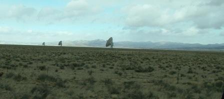 string of VLA antennae installations