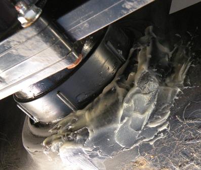 epoxy applied to RV tank repair