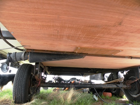 Luan Plywood Tile underlayment for RV Belly Pan