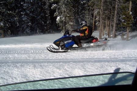 Snowmobile racing Big Red