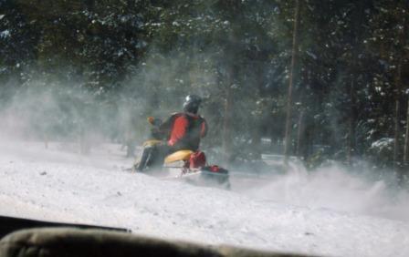 The snowmobile won