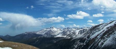 Mountain Peaks in Rocky Mountain National Park