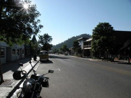 Estes Park in the early morning sun