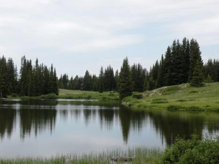 High Mountain Lake in Snowy Range Pass
