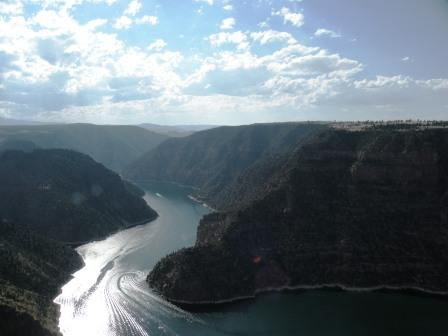 Flaming Gorge in the late afternoon