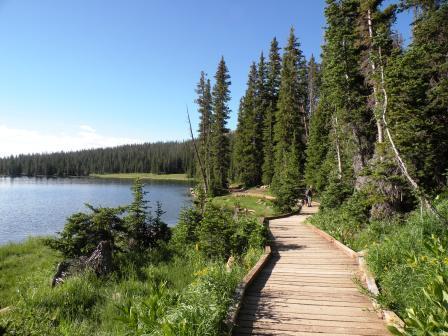 Boardwalk on Mirror Lake in the Uintas