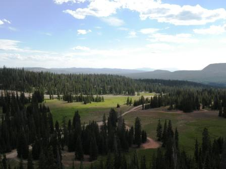 View from Bald Mountain Pass in the Uinta Mountains