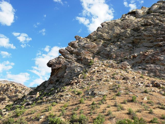 Rocky landscape in Dinosaur National Monument