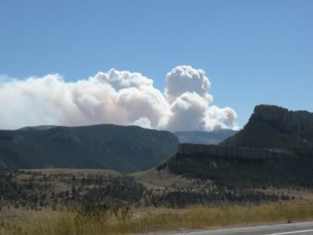Gunbarrel fire in Wyoming