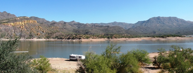 RV Boondocking on Bartlett Reservoir