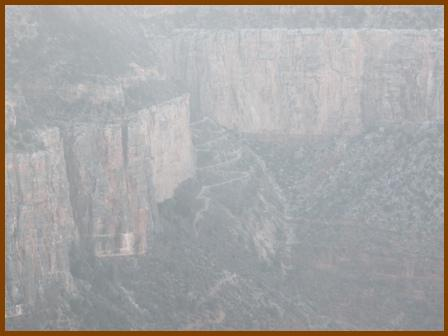 Fuzzy pic at the Grand Canyon