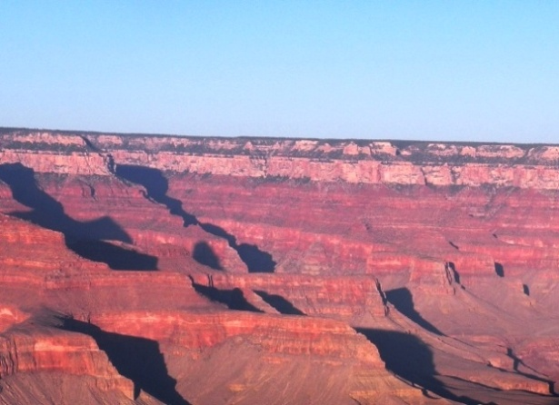Looking over at the North Rim of the Grand Canyon