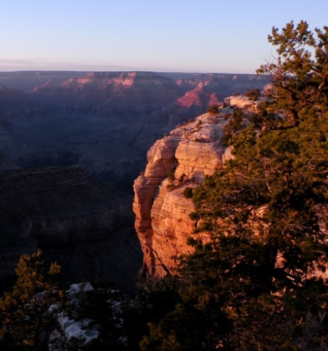 Sunset on Grand Canyon Rocks