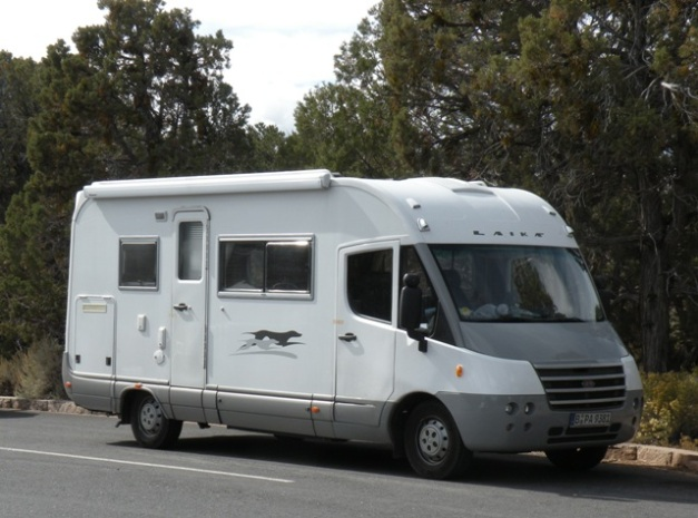 Laika Motorhome from Europe at the Grand Canyon