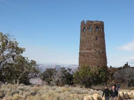 Desert View Watch Tower at Grand Canyon