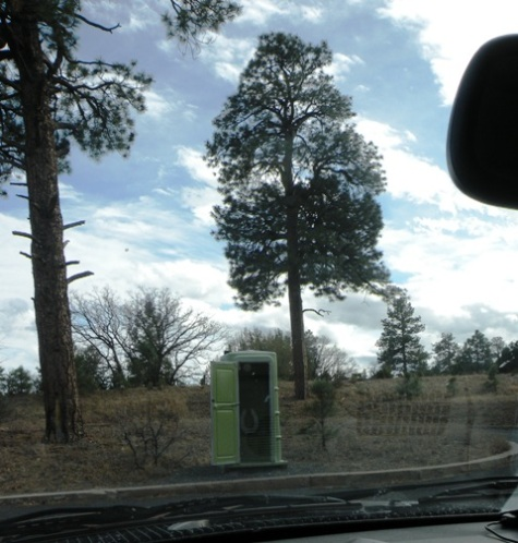 Grand Canyon outhouse