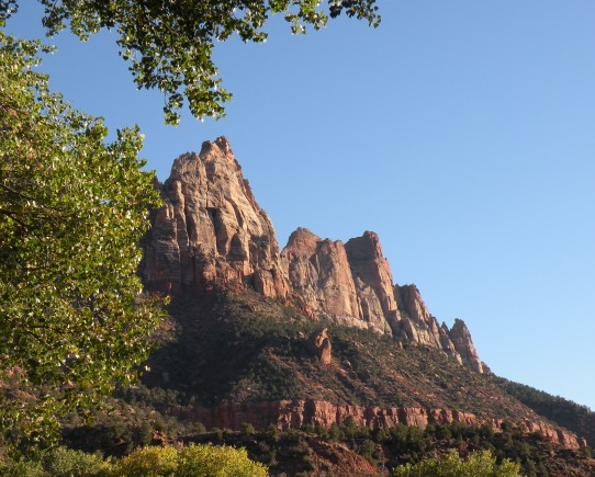 View from Watchman Campground in Zion National Park