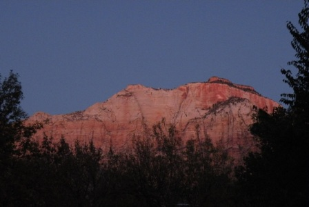 First Light in Zion Canyon
