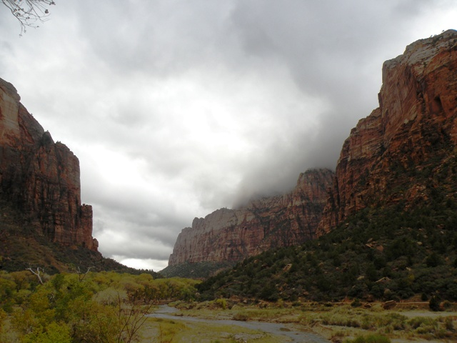 Stormy weather in Zion