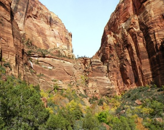 First climb up to Angels Landing