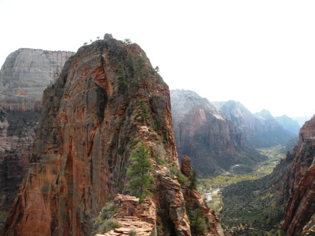 The last climb up to Angels Landing in Zion