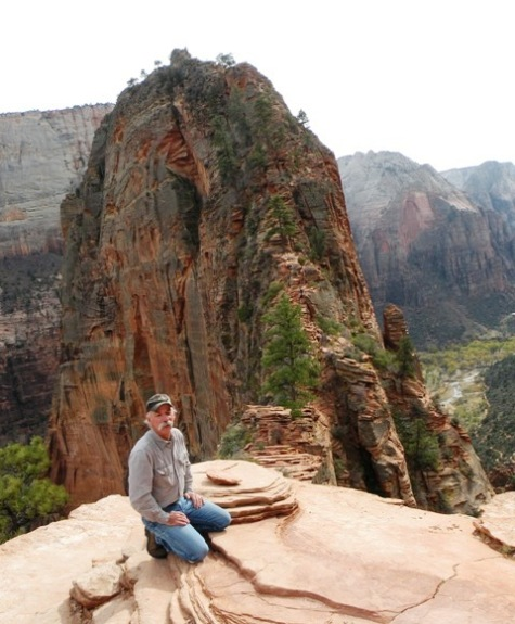 Me... almost to Angels Landing in Zion