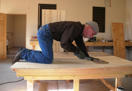 cutting out new RV Desk surface