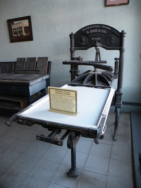 Tombstone Epitaph Printing Press