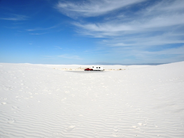 lost in the white sands