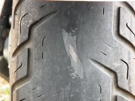 Bad Motorcycle Tire