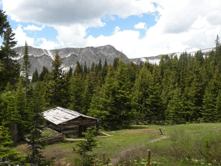 Miners Cabin in the Snowy Range of Wyoming