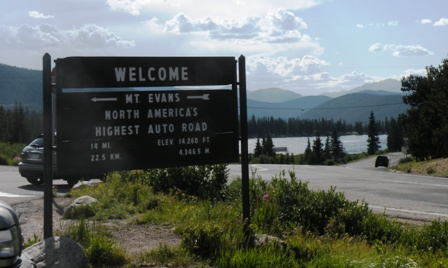 Mt Evans road americas highest auto road