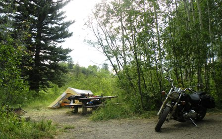 Motorcycle Camping in McClure Campground