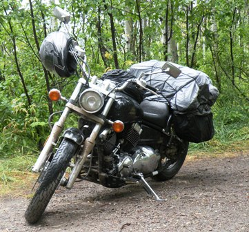 Yamaha VStar ready for the rain
