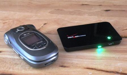 Verizon MiFi 2200 in use