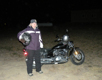 Ready for a Night Ride on our Yamaha V Star