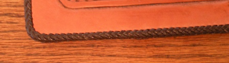 Ending splice on eight strand round edge Braid