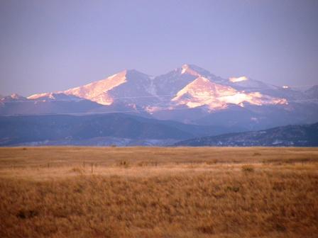 Sunrise along the front range