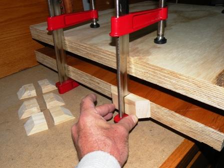 book press bar clamp stabilizer blocks